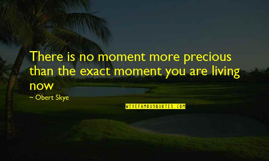 Living Now Quotes By Obert Skye: There is no moment more precious than the