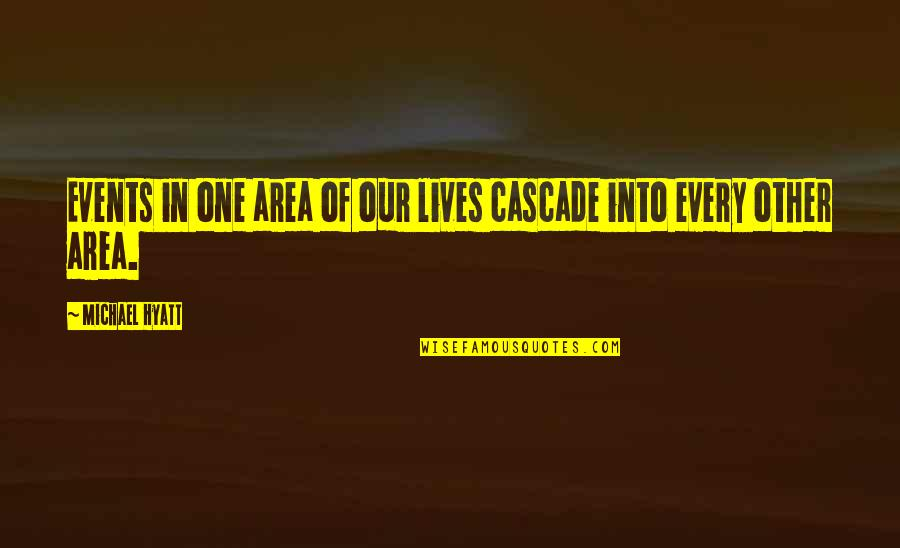 Living Our Life Quotes By Michael Hyatt: Events in one area of our lives cascade