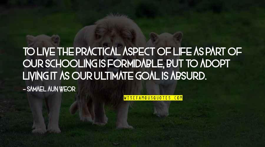 Living Our Life Quotes By Samael Aun Weor: To live the practical aspect of life as