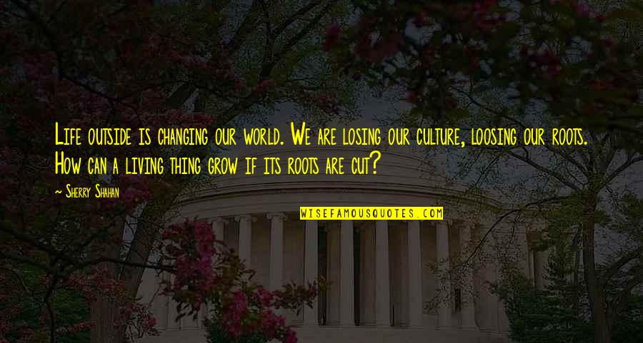 Living Our Life Quotes By Sherry Shahan: Life outside is changing our world. We are