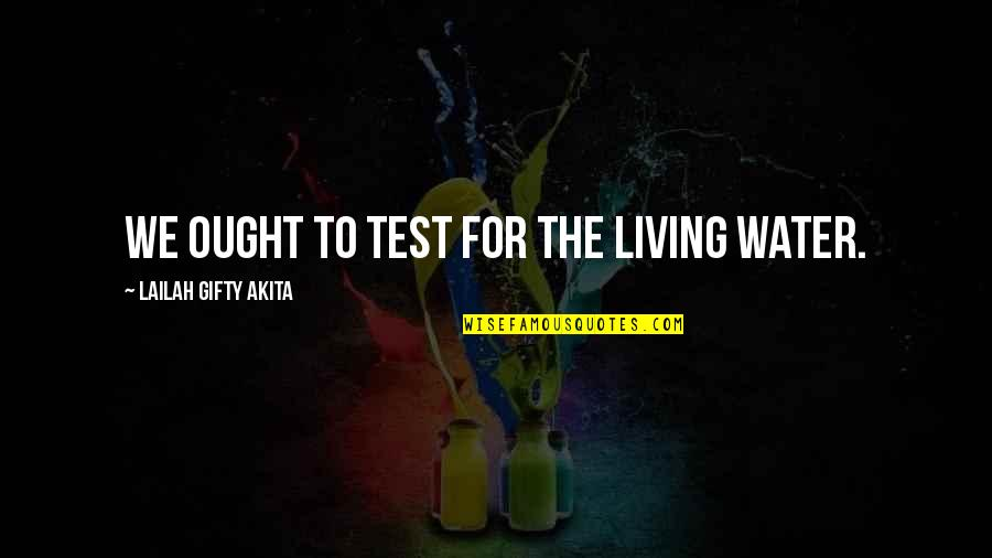 Living Sayings And Quotes By Lailah Gifty Akita: We ought to test for the living water.