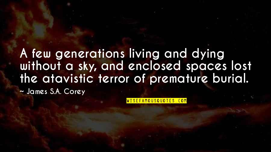 Living Spaces Quotes By James S.A. Corey: A few generations living and dying without a