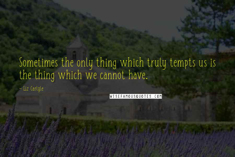 Liz Carlyle quotes: Sometimes the only thing which truly tempts us is the thing which we cannot have.
