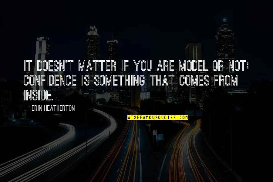 Lloyd Asplund Quotes By Erin Heatherton: It doesn't matter if you are model or