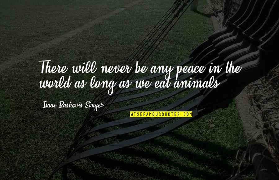 Lobes Quotes By Isaac Bashevis Singer: There will never be any peace in the