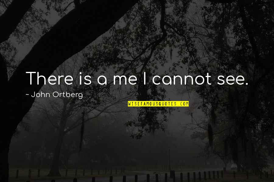 Lodeme Quotes By John Ortberg: There is a me I cannot see.