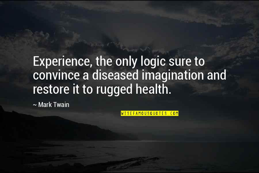 Logic And Imagination Quotes By Mark Twain: Experience, the only logic sure to convince a