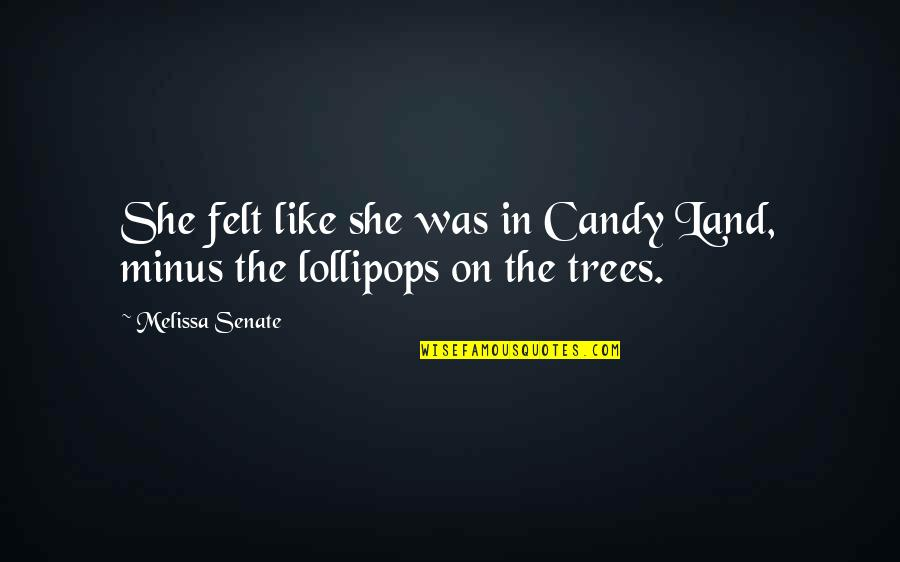 Lollipops Quotes By Melissa Senate: She felt like she was in Candy Land,