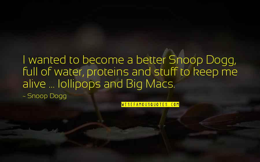 Lollipops Quotes By Snoop Dogg: I wanted to become a better Snoop Dogg,