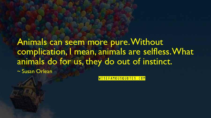 Lonely Tagalog Quotes By Susan Orlean: Animals can seem more pure. Without complication, I