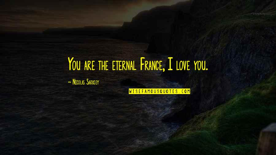 Long Distance Relationships On Valentines Day Quotes By Nicolas Sarkozy: You are the eternal France, I love you.