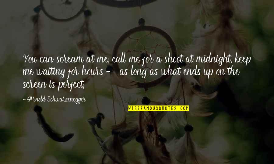 Long Hours Quotes By Arnold Schwarzenegger: You can scream at me, call me for