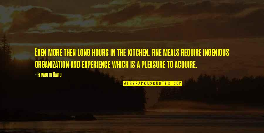 Long Hours Quotes By Elizabeth David: Even more then long hours in the kitchen,