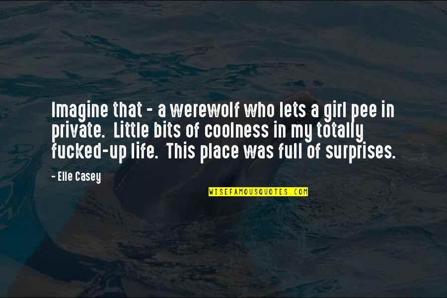 Long Race Horse Quotes By Elle Casey: Imagine that - a werewolf who lets a