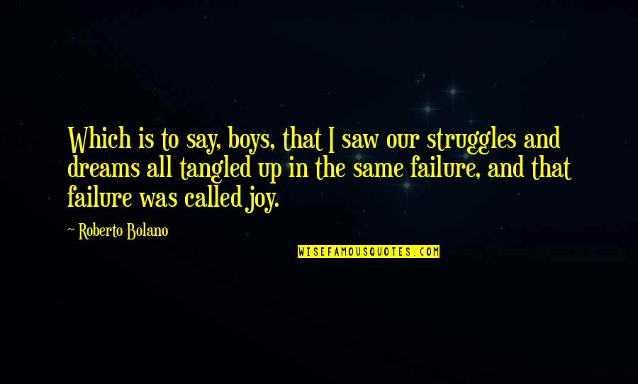Lonly Quotes By Roberto Bolano: Which is to say, boys, that I saw