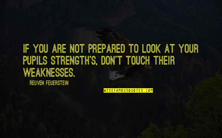 Look But Don't Touch Quotes By Reuven Feuerstein: If you are not prepared to look at