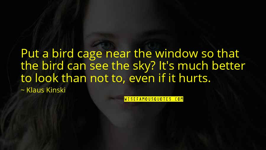 Look The Sky Quotes By Klaus Kinski: Put a bird cage near the window so