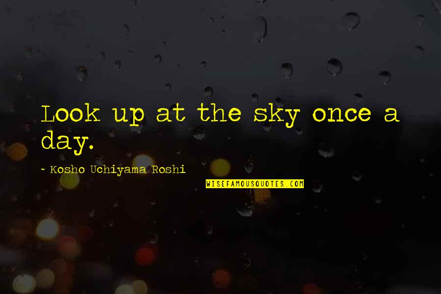 Look The Sky Quotes By Kosho Uchiyama Roshi: Look up at the sky once a day.
