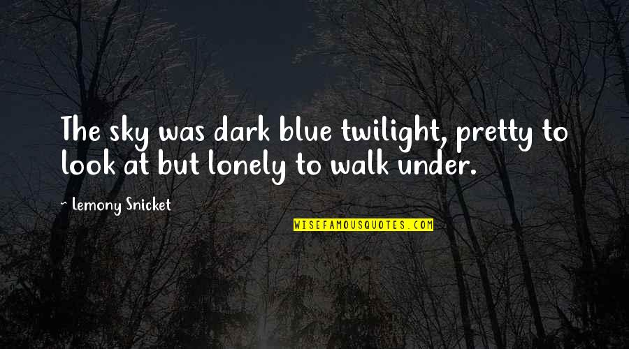 Look The Sky Quotes By Lemony Snicket: The sky was dark blue twilight, pretty to