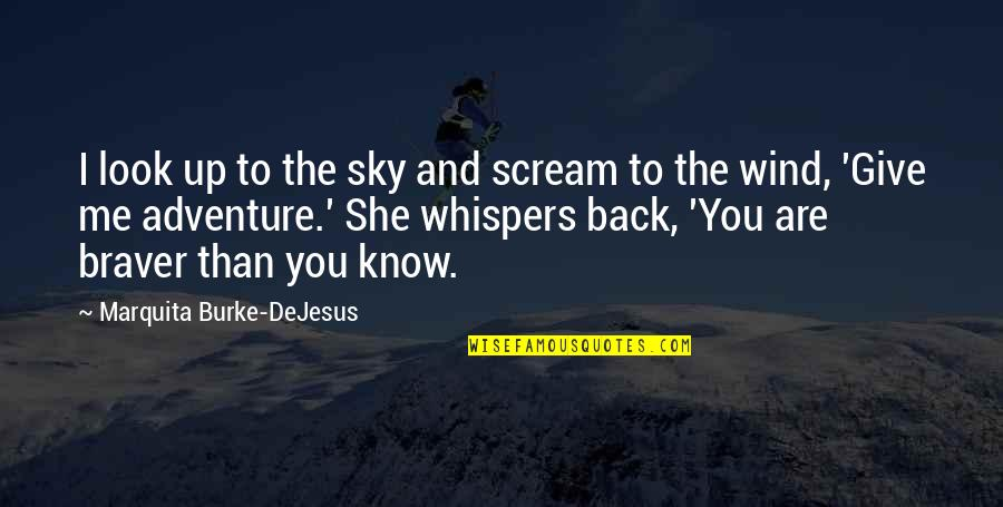 Look The Sky Quotes By Marquita Burke-DeJesus: I look up to the sky and scream