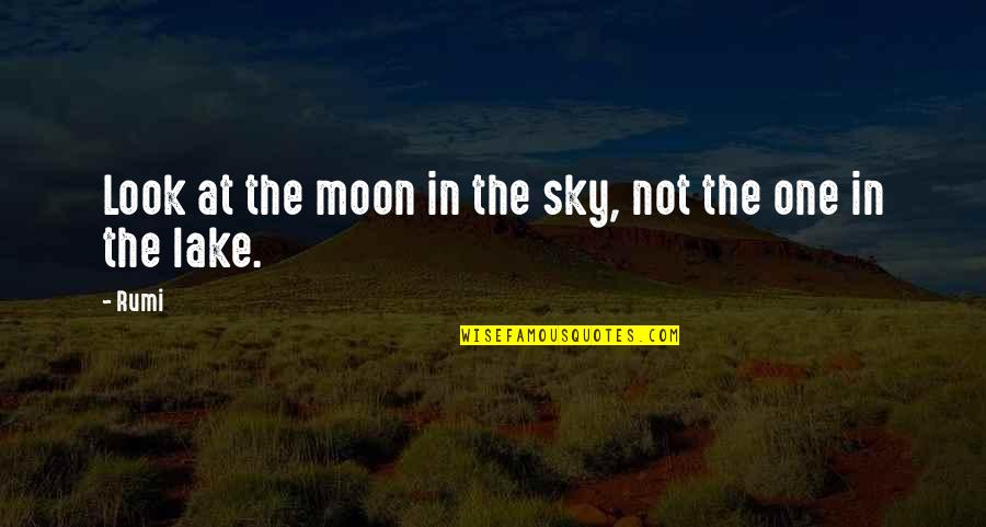 Look The Sky Quotes By Rumi: Look at the moon in the sky, not