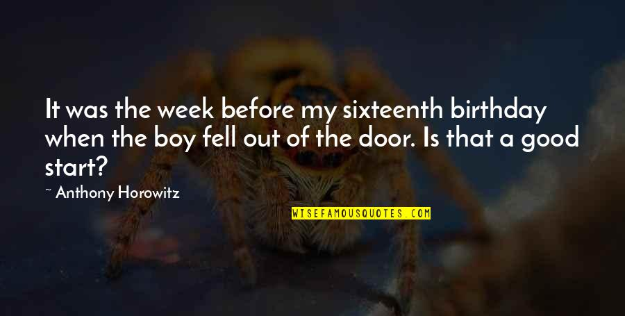 Looking Forward To Christmas Quotes By Anthony Horowitz: It was the week before my sixteenth birthday