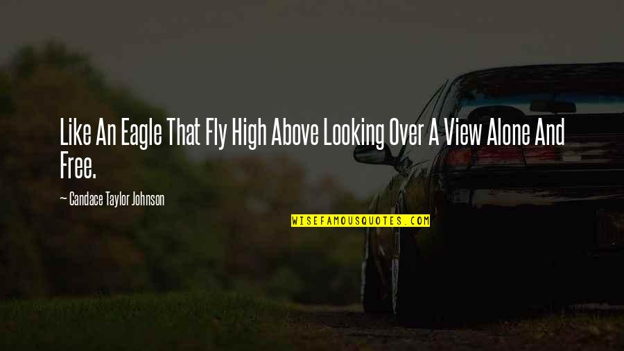 Looking Up High Quotes By Candace Taylor Johnson: Like An Eagle That Fly High Above Looking