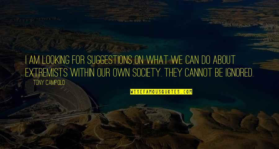 Looking Within Quotes By Tony Campolo: I am looking for suggestions on what we