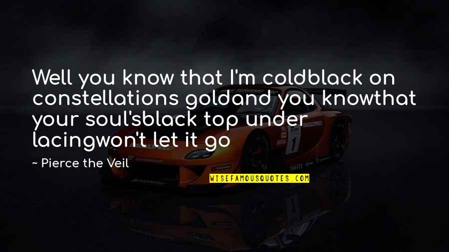 Looks Does Matter Quotes By Pierce The Veil: Well you know that I'm coldblack on constellations
