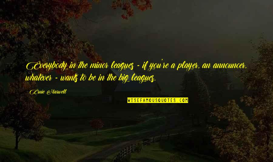 Lord Will Guide Me Quotes By Ernie Harwell: Everybody in the minor leagues - if you're