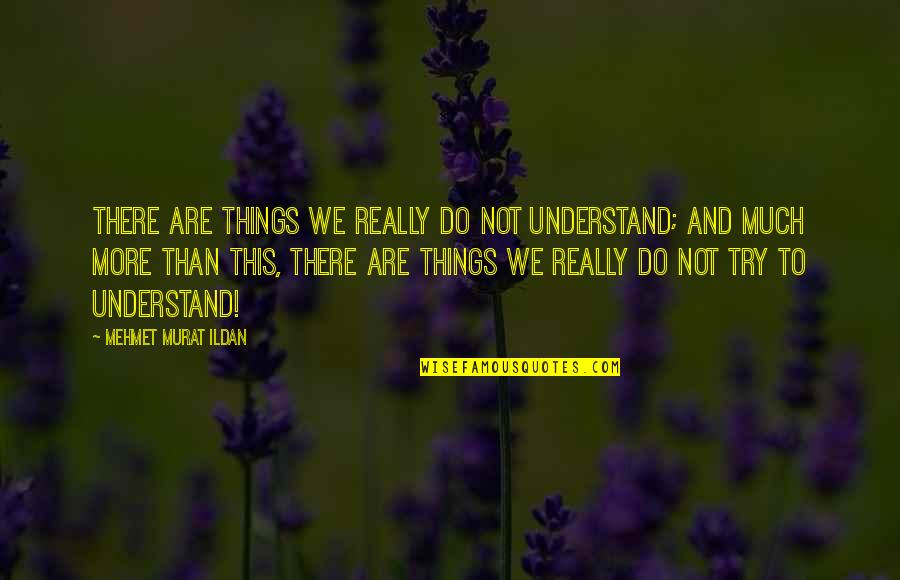 Lori Schiller Quotes By Mehmet Murat Ildan: There are things we really do not understand;