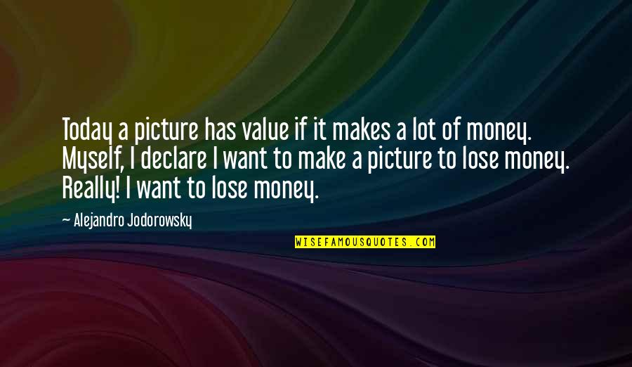 Lose It Quotes By Alejandro Jodorowsky: Today a picture has value if it makes