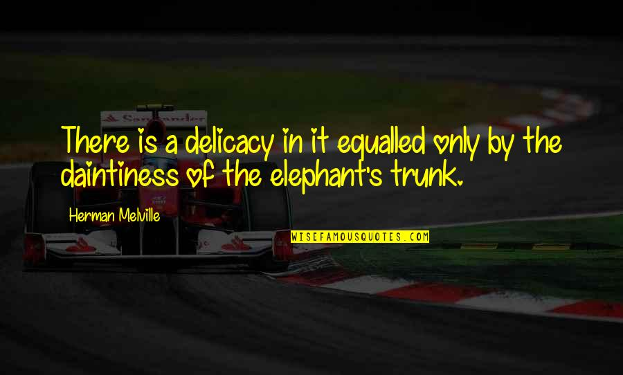 Lose Yourself To Dance Quotes By Herman Melville: There is a delicacy in it equalled only