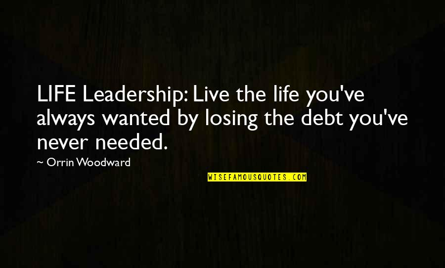 Losing Your Dreams Quotes By Orrin Woodward: LIFE Leadership: Live the life you've always wanted
