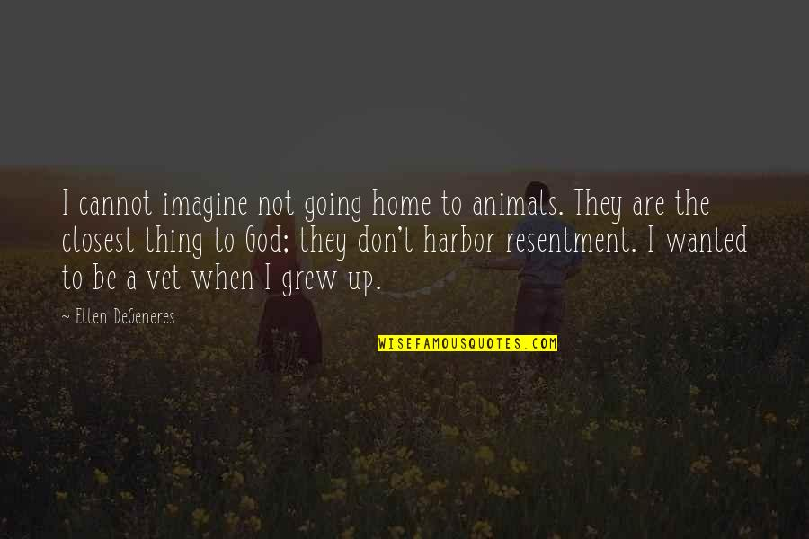 Lost Love Death Quotes By Ellen DeGeneres: I cannot imagine not going home to animals.