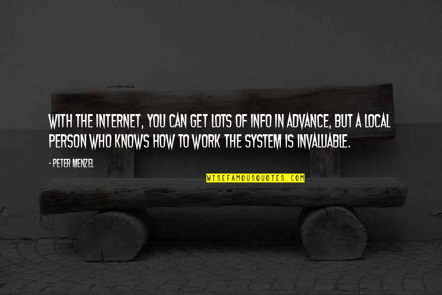 Lots Of Work Quotes By Peter Menzel: With the Internet, you can get lots of