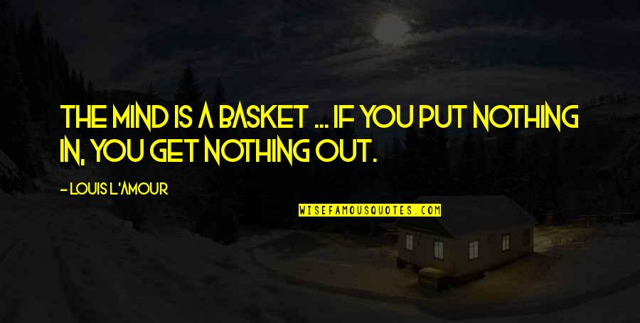 Louis L'amour Quotes By Louis L'Amour: The mind is a basket ... if you