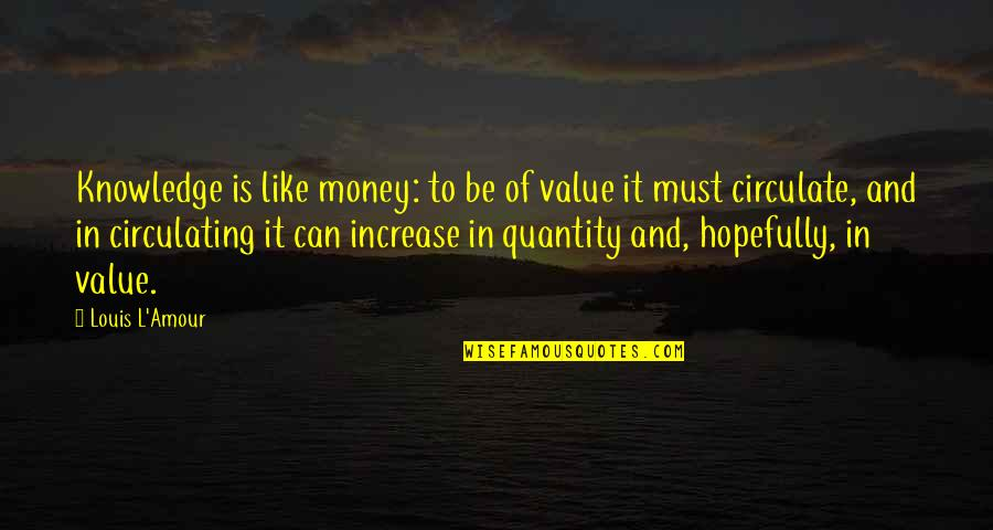 Louis L'amour Quotes By Louis L'Amour: Knowledge is like money: to be of value