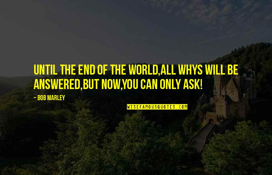 Love After Hard Times Quotes By Bob Marley: Until the end of the world,all whys will