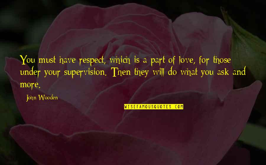 Love And Basketball Quotes By John Wooden: You must have respect, which is a part