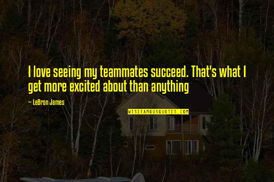 Love And Basketball Quotes By LeBron James: I love seeing my teammates succeed. That's what