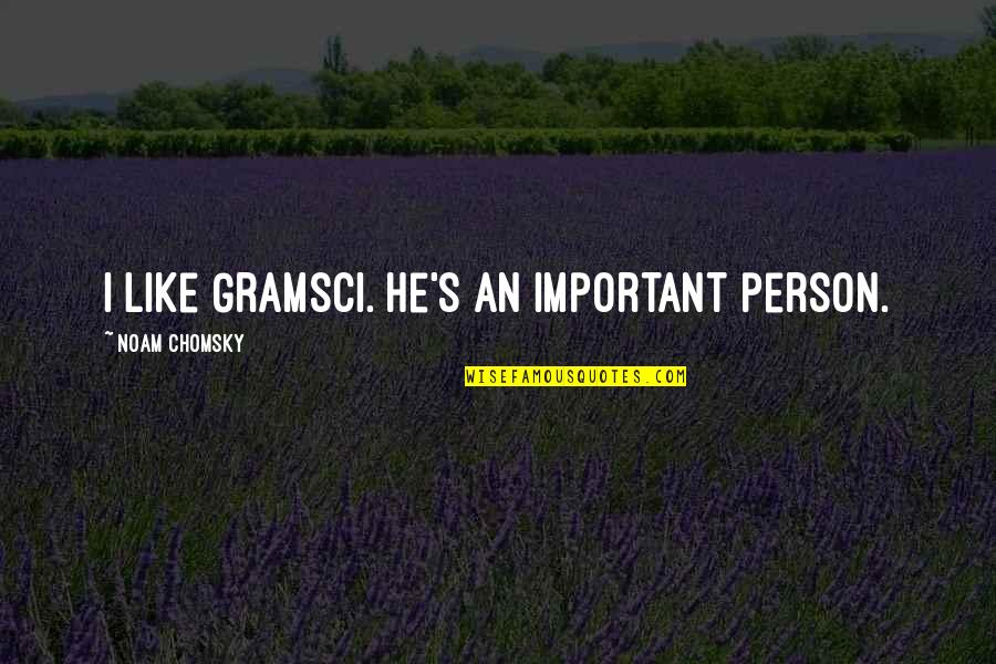 Love And Family In The Bible Quotes By Noam Chomsky: I like Gramsci. He's an important person.