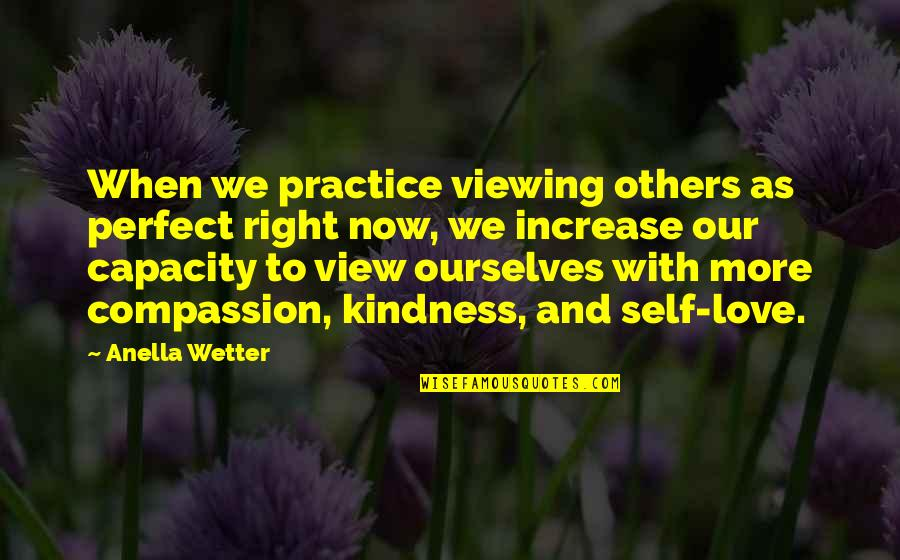 Love And Kindness Quotes By Anella Wetter: When we practice viewing others as perfect right
