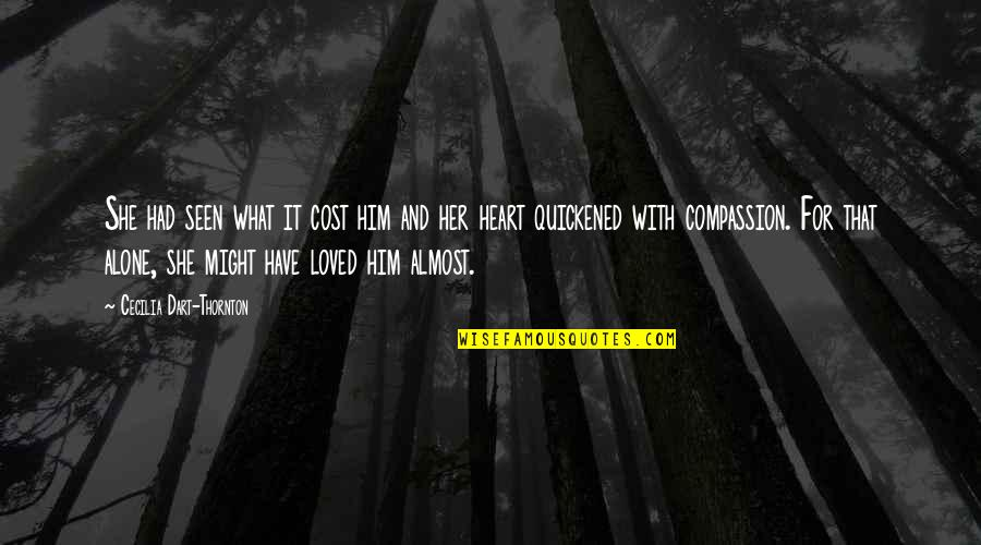 Love And Kindness Quotes By Cecilia Dart-Thornton: She had seen what it cost him and