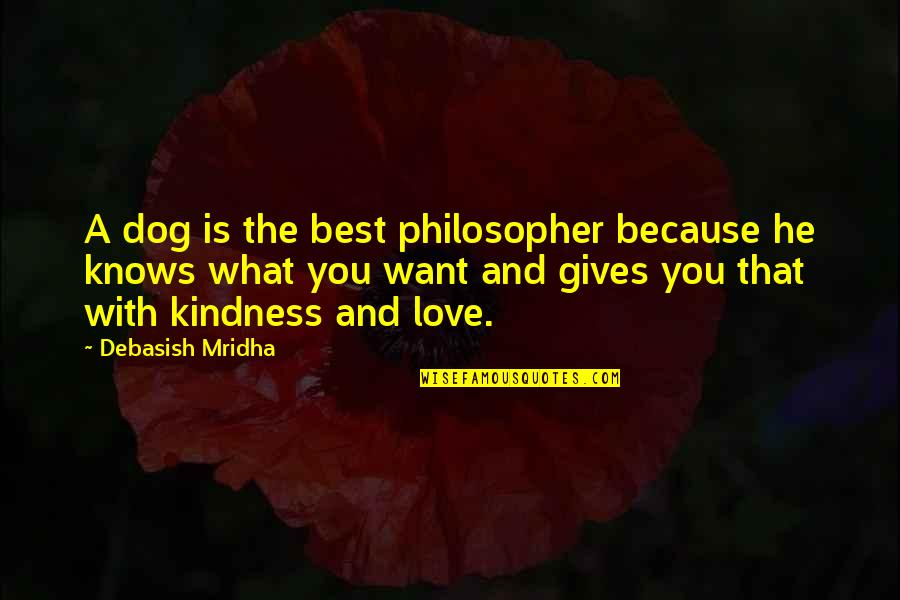 Love And Kindness Quotes By Debasish Mridha: A dog is the best philosopher because he
