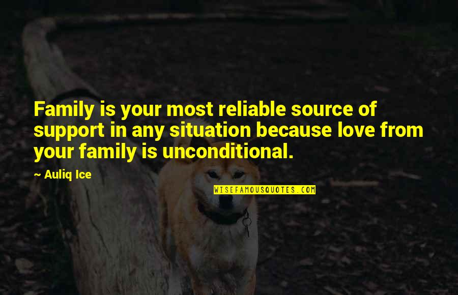 Love And Marriage And Family Quotes By Auliq Ice: Family is your most reliable source of support