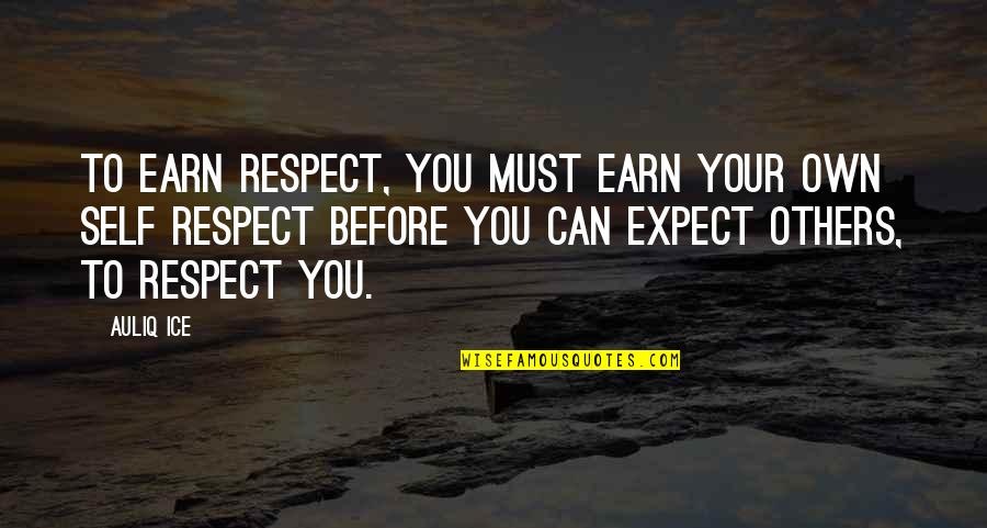 Love And Respect Others Quotes By Auliq Ice: To earn respect, you must earn your own