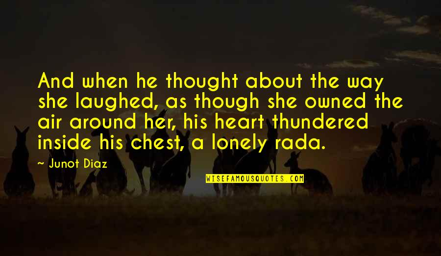 Love As Though Quotes By Junot Diaz: And when he thought about the way she