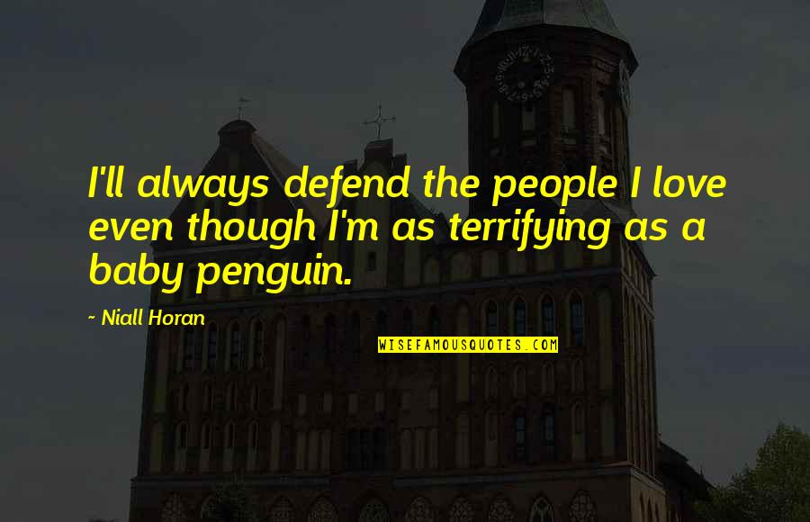 Love As Though Quotes By Niall Horan: I'll always defend the people I love even
