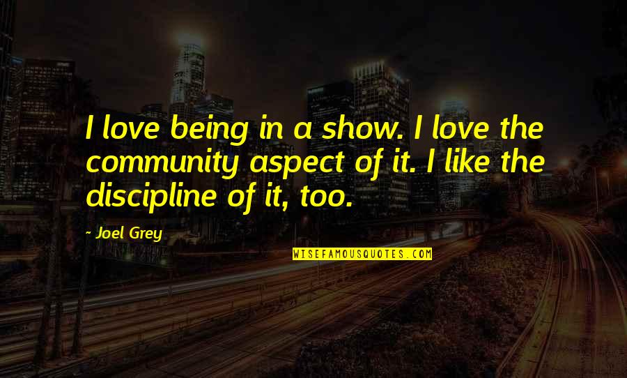 Love Aspect Quotes By Joel Grey: I love being in a show. I love